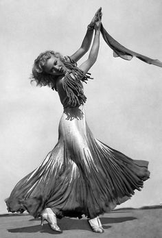 1930s Ginger Rogers dancing in T Strap Silver Shoes