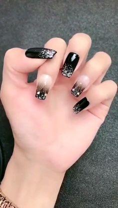White Acrylic Nails, Best Acrylic Nails, Nail Art Designs, Art Deco Nails, Goth Nails, Elegant Nail Art, Nail Designer, Latest Nail Art, Nagel Gel