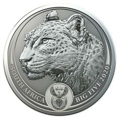LEOPARD Big 5 series 1 oz silver coin South Africa 2020