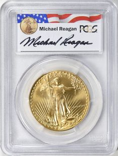 Premier Certified Style Coin Holder for $10 Gold Eagle with Labels
