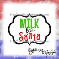 """Cutting file """"Milk for Santa"""" with frame, in Jpg Png Studio3 SVG EPS DXF, for Cricut & Silhouette cameo curio, christmas xmas, milk bottle"""