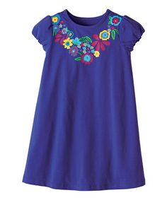 Loving this Grape Juice Bring Flowers Dress - Infant, Toddler & Girls on #zulily! #zulilyfinds