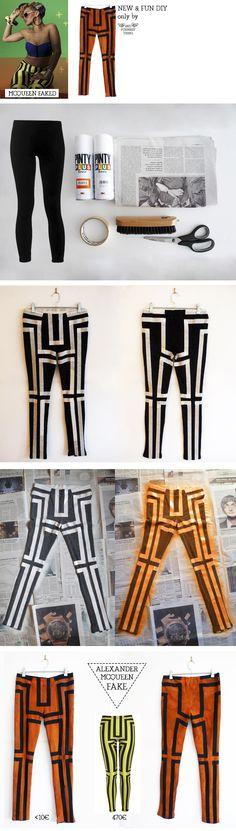 FREE TUTORIAL!!  Mcqueen geometric leggins