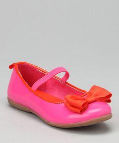 Fuchsia & Orange Kristen Ballet Flat