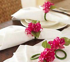 Como fazer porta-guardanapo com elástico de cabelo Os guardanapos de tecido estão voltando com tudo para organização das mesas. Hoje em dia, para receber c