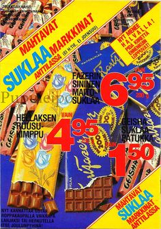 Pupuleipomo: Anttilan kuvasto, joulukuu 1981 Good Old Times, Old Advertisements, Pop Tarts, Childhood Memories, Nostalgia, Retro, Product Design, Candy, Vintage