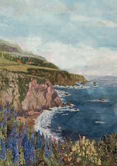"""Big Sur in May"" art quilt by @Judith Zissman Zissman Zissman Zissman Zissman Baker Montano"