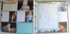 Project Life - Baby Andrew - Baby For Him Core Kit  All About Baby first year of life! I loved doing this album and I loved using Project Life for a baby album.  Katina Martinez - www.lovinglifeslittleblessings.com