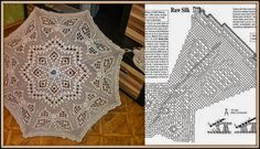 Crochet, for my soul! Freeform Crochet, Thread Crochet, Filet Crochet, Crochet Doilies, Knit Crochet, Lace Umbrella, Lace Parasol, Beau Crochet, Crochet Home