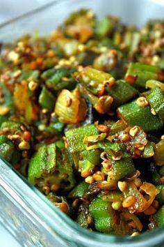 Sreelus Tasty Travels: Bhindi Masala My favorite veg. Indian Veg Recipes, Gujarati Recipes, Asian Recipes, Puri Recipes, Soup Recipes, Veg Dishes, Vegetable Dishes, Vegetable Recipes, Main Dishes