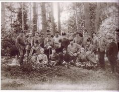 Nicholas hunting in Spala  1894  Behind him are GD Wladimir and his wife Marie Pavlovna