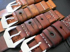 leather straps by gregoire texier