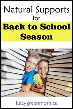 Get set for #BacktoSchool season with #natural supports for the whole family.