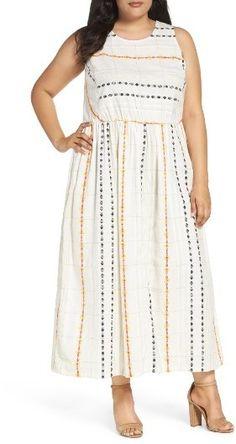 d9b555a52e8d Plus Size Women's Caslon Cotton Maxi Dress Plus Size Maxi Dresses, Plus Size  Outfits,