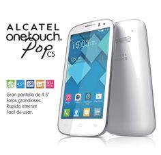 Te presentamos el POP C5, un Smartphone compacto y de fácil uso, gracias a la tecnología ALCATEL ONETOUCH.