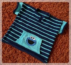 Ravelry: angelaknits' Summer Cookie Monster Summer Cookies, Summer Sweaters, Cookie Monster, Picnic Blanket, Outdoor Blanket, Ravelry, Summer Blouses, Fair Isle Knitting, Knit Stitches