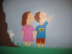 Crafty little people: Our beautiful rainbow wall mural