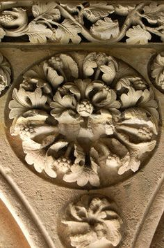 ⌖ Architectural Adornments ⌖  ornate building details - Cast in Stone, MontSt. Michel, France - by Declan O'Doherty