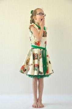Inspiration For Kids, Kids Prints, Retro Dress, Sewing For Kids, Kids Wear, Sewing Hacks, Cute Girls, Midi Skirt, Kids Outfits
