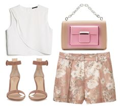 """Untitled #3312"" by evalentina92 ❤ liked on Polyvore featuring MANGO, Balenciaga and Gianvito Rossi"