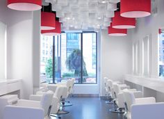 Image detail for -Design A Beauty Salon, The crisp white environment is a clear ...