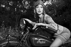 Vintage Indian #motorcycle #bw