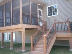 Composite Deck with Screened Porch in Wildwood, Mo by Archadeck