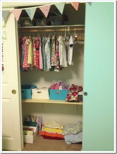 Organizing a toddler girl's bedroom - before and after photos, tips, and ideas