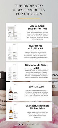 Moisturizer For Oily Skin, Oily Skin Care, Face Skin Care, Dry Skin, The Ordinary Oily Skin, The Ordinary Skincare Guide, Skin Routine, Tips Belleza, The Ordinary Combination Skin