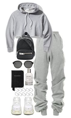 """Untitled #5197"" by theeuropeancloset ❤ liked on Polyvore featuring Y/Project, Balenciaga, Frame, Alexander Wang, Christian Dior, Le Labo, Aspinal of London and ASOS"