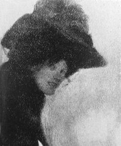 Dame mit Federhut 1897read m...