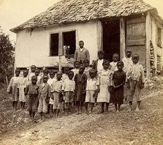 Rural Schoolhouse, Jamaica | Item: 1-527 Title: West India P… | Flickr Old Jamaica, Jamaican People, Jamaica History, Ebony Magazine Cover, Uganda Travel, Caribbean Culture, South Of The Border, History Education, West Indian