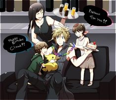 Steam Community :: :: a surprise birthday Final Fantasy Funny, Final Fantasy Cloud, Final Fantasy Artwork, Final Fantasy Characters, Final Fantasy Vii Remake, Fantasy Series, Cloud And Tifa, Cloud Strife, Final Fantasy Collection