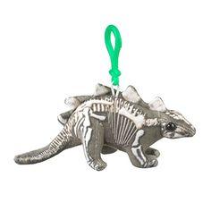 Plush Skelesaurs Stegosaurus Backpack Clip Toy Keychain P...