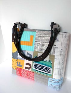 Modern Quilted Patchwork Bag, via Etsy.