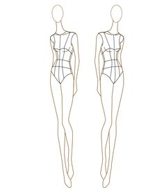 Fashion Design Sketchbooks - Free Croquis Fashion Template ...