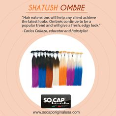 Shatush Ombre offers fun and vibrant easy to blend hair that gives the perfect ombre look. Shop: socaporiginalusa.com/extensions/shatush.html  ‪#‎ombre‬ ‪#‎hairextensions‬ ‪#‎hair‬  #socap #sobehair #hair #extensions #hairextensions #love #beauty #classic #longhair #long #brunette #blonde #black #edgy #gorgeous #women #style #trend #hairandmakeup #stylist #haircut #fashion #highlights #blowdry #straight #curly #wavy #bangs #ombre #inspiration #haircolor #color #people #shatush #ombre