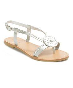 Silver Woven Azaria Sandal