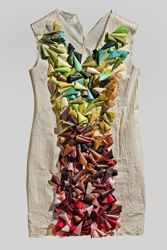 """Aimee Lee, """"Paper Dress...""""; Aimee will teach a papermaking workshop at Penland, May 25-June 6, 2014. More information at: http://penland.org/books/index.html"""