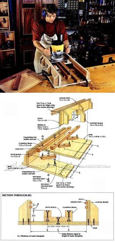 Self Centering Mortising Jig - Joinery Tips, Jigs and Techniques   WoodArchivist.com