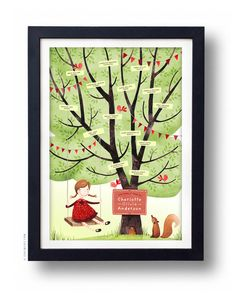 SWING Family Tree CUSTOMIZABLE 13 X 19 by evajuliet on Etsy