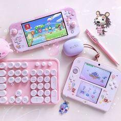 Aesthetic Rooms, Pink Aesthetic, Kawaii Games, Gaming Room Setup, Gaming Chair, Nintendo Switch Case, Loona Kim Lip, Nintendo Switch Accessories, Otaku Room