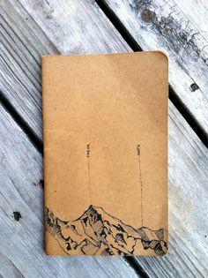 Carnet de note montagne - note book montaign.