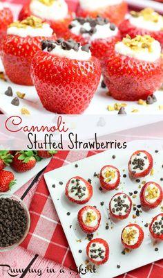 Cannoli Stuffed Strawberries