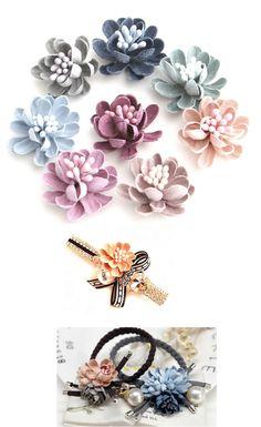 Flowers Fabric DIY Handmade Tiny Bud Flower Cloth Art Hair Accessories  Brooch Wedding Corsage Headpieces Boho eb10d2e24f19