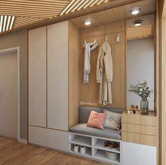 Home Entrance Decor, House Entrance, Home Decor, Entryway Decor, Hallway Closet, Hallway Storage, Ikea Hallway, Entry Way Design, Hall Design