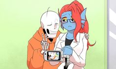 Underswap Papyrus and Undyne
