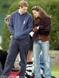 May 3, 2003 - Before going public William and Kate were sparking speculation of a royal romance. Here they were pictured very close together at a Rugby Sevens Tournament match.