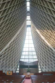 The Interior Luce Memorial Chapel © Anonymous Blogger