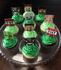 Minecraft Cupcakes | Birthday Party Ideas for Boys | DIY Minecraft Party Food Ideas Birthdays